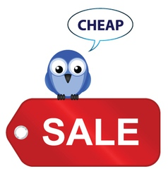 going cheap vector image vector image