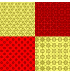 Set of oriental chinese new year seamless pattern vector