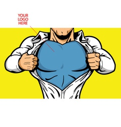 Superhero Chest for Your Logo vector image vector image