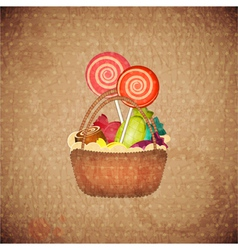 sweets on crumpled paper vector image