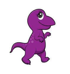 cute dinosaurs cartoon eps10 file vector image vector image
