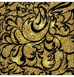 Gold glitter sparkling pattern Decorative vector image