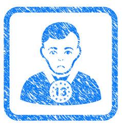 13th prizer sportsman framed stamp vector