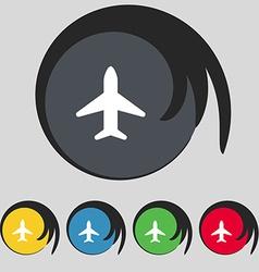 Airplane Plane Travel Flight icon sign Symbol on vector image