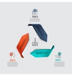 Arrows infographic vector