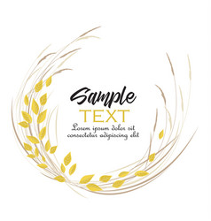 autumn leaves decoration vector image