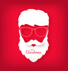 avatar santa claus with a beautiful hairdo vector image
