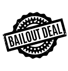Bailout Deal rubber stamp vector