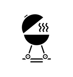 barbeque tools black icon concept vector image