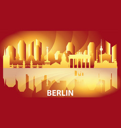 Berlin colorful gradient skyline vector