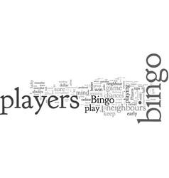 bingo tips from bingo players vector image