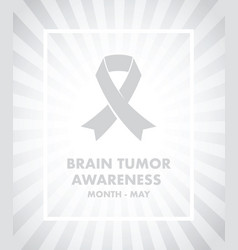 brain tumour awareness vector image