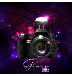 Camera in Glamour Background vector