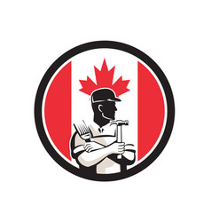 Canadian diy expert canada flag icon vector