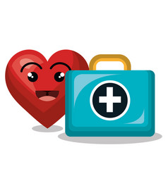 Cardiology digital healthcare medical isolated vector