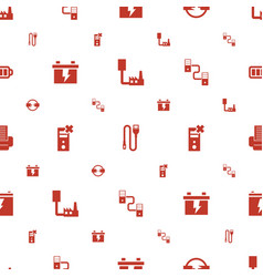 charger icons pattern seamless white background vector image
