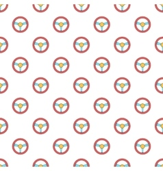 Computer steering wheel pattern cartoon style vector