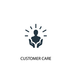 Customer care icon simple element vector