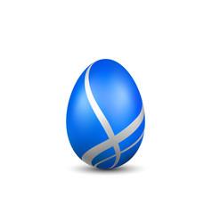 Easter egg 3d icon blue egg isolated white vector