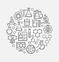 education and chemistry circular symbol vector image