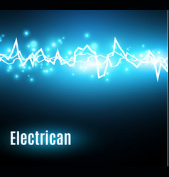 Energy shock effect with many glowing particles vector