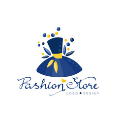 Fashion store logo design template clothes shop vector