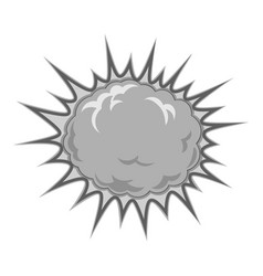 Fiery explosion busting icon monochrome vector