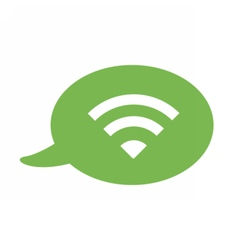 Flat icon with a bubble and a message wifi vector