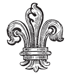 Fleur-de-lis is bearing bourbons of vector