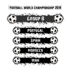 football championship 2018 group b vector image