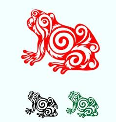 Frog ornate vector image