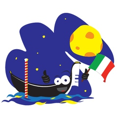 Funny gondola vector