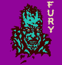 Fury zombie dead head cover vector