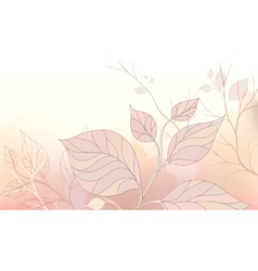 Gentle background with stylized leaves vector image