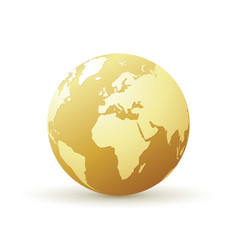Golden world globe vector