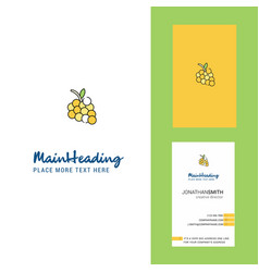 grapes creative logo and business card vertical vector image