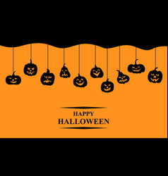 halloween funny horror pumpkin greeting banner vector image