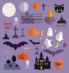 Halloween set1 vector image
