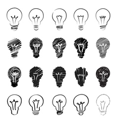hand sketch lamps vector image