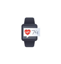Heart rate and pulse icon vector