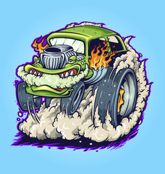 hot road car monster vape vector image