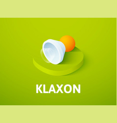 Klaxon isometric icon isolated on color vector