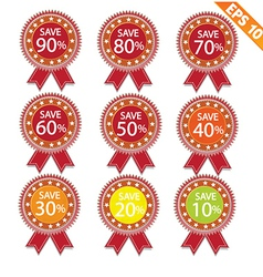 Label stitch sale tag - - eps10 vector