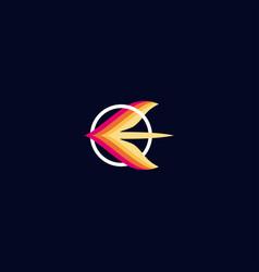 Letter e colorful logo design vector