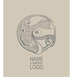Logo Doodle fish Hand drawn vector image