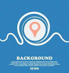Map pointer GPS location sign icon Blue and white vector image