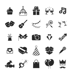 Modern trendy Isolated icons set Gift Party vector
