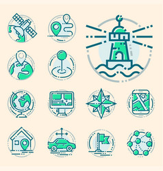 navigation direction maps sign traffic and more vector image