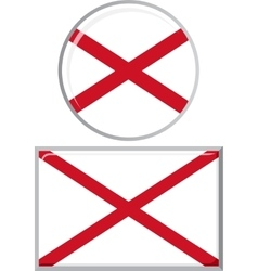 Northern Ireland round and square icon flag vector image