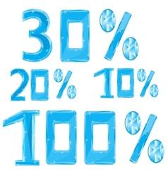 Numerals in ice percent vector